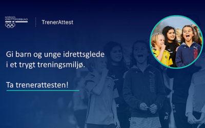 Ta trenerattesten for norsk idrett